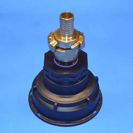 IBC Adapter, Grobgewinde S100x8 mit 19 mm Schlauchtülle GEKA #Z3G