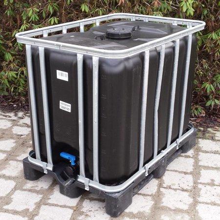 IBC Tank, Neu 600L schwarz, Trinkwassertank auf PE-Palette #6