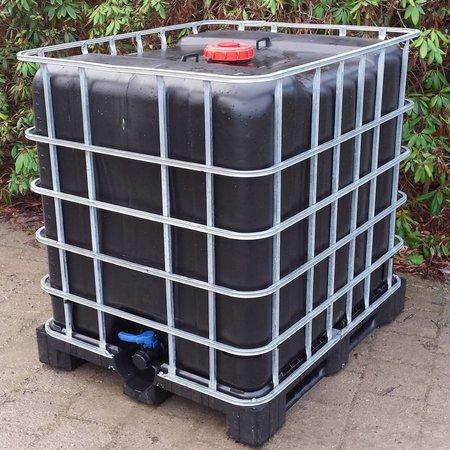 IBC Tank, Neue Blase 1000 l SCHWARZ , Trinkwassertank auf Stahl/PE-Palette mit Algenschutz #12