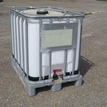 IBC Tank 600L, 2. Wahl auf Stahl/PE-Palette