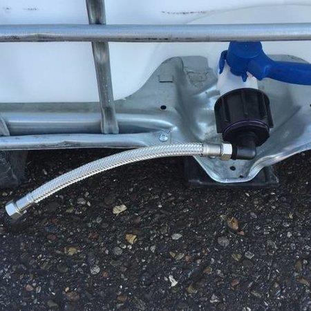 Tränke mit IBC Verbindungsset Schlauch 30cm #DBLVS1