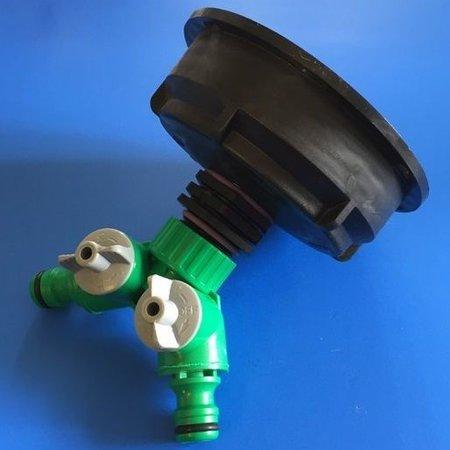 IBC 2-Wege-Ventil mit IBC Adapter S100x8 Grobgewinde GARDENA-kompatibel #Z2008