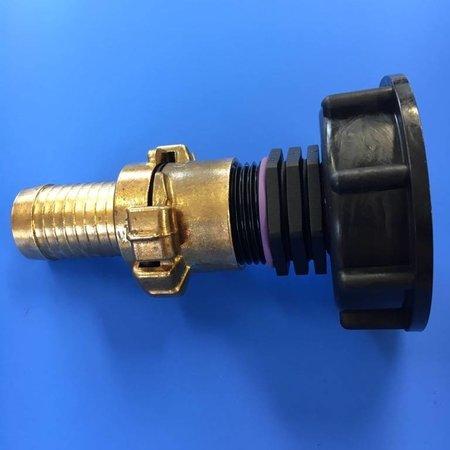 IBC Adapter, Grobgewinde S60x6 mit 25mm Schlauchtülle, GEKA kompatibel #H4G