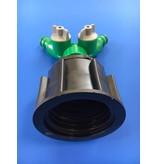 IBC Adapter Grobgewinde S60x6 mit 2-Wege-Ventil GARDENA-kompatibel #12008