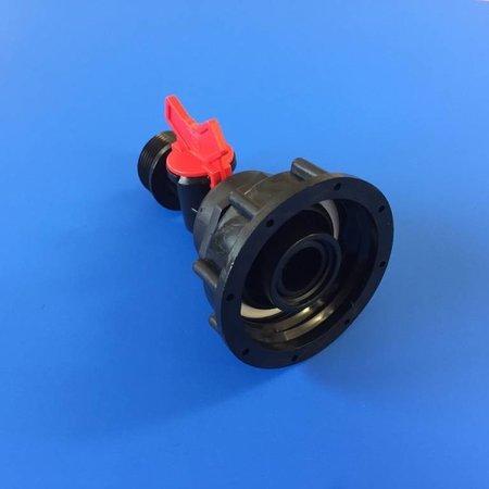 """IBC Adapter, Grobgewinde S60x6 mit Mini-Absperrventil 1"""" AG"""