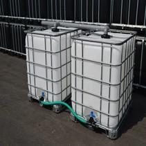 IBC Tank, Anlage 2000L, Komplettset, auf Stahl/PE-Palette
