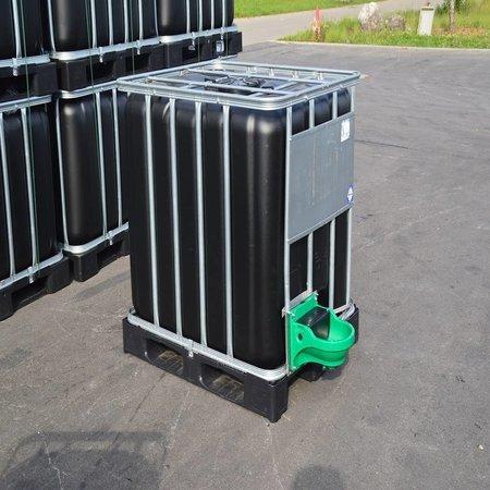 IBC Wassertank 1000 l neu schwarz ( UV-Schutz) auf Stahl/PE-Palette mit Weidetränke und Verbindungsset