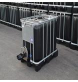IBC Tank 600 l schwarz ( UV-Schutz) inkl. Weidetränke/ Viehtränke auf Niederdruck und Verbindung