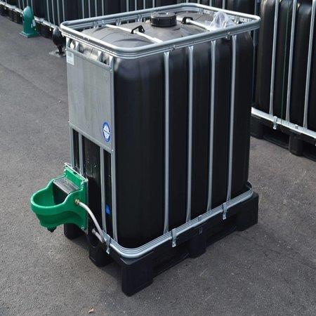 IBC Tank 600l schwarz ( UV-Schutz) inkl. Weidetränke/ Viehtränke auf Niederdruck und Verbindung