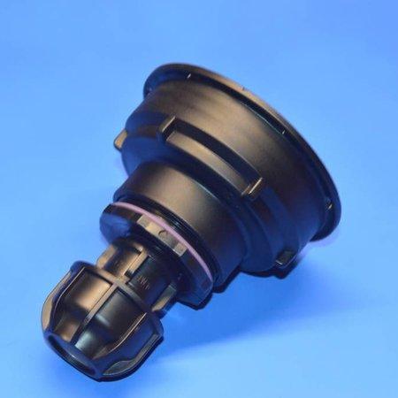 IBC Adapter S100x8 x 25mm Rohr Klemmverbindung mit Dichtung #Z1600