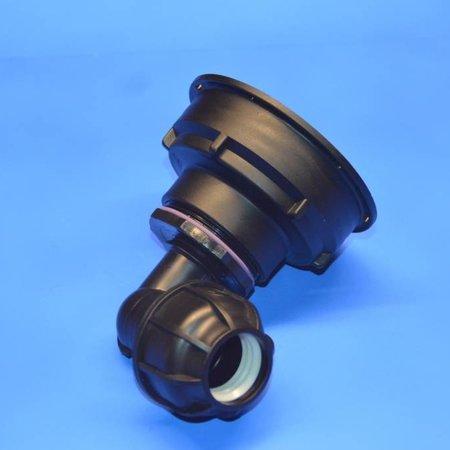 IBC Adapter S100x8 x 32mm Rohrverbindung Winkel mit Dichtung #Z1501