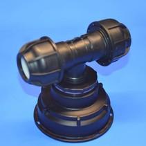 IBC Adapter S100 x 8 x 32 mm Rohrverbindung T-Stück mit Dichtung #Z1502