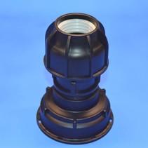 IBC Adapter S100 x 8 x 50 mm Rohr Klemmverbindung mit Dichtung #Z1400