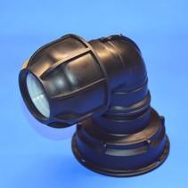 IBC Adapter S100 x 8 x 50 mm Rohrverbindung Winkel mit Dichtung #Z1402