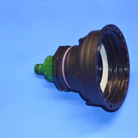 "IBC Adapter, Grobgewinde S100 x 8 x 1"" AG, inkl. Kupplung, GARDENA kompatibel #Z25G"