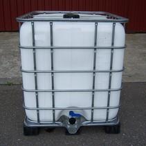 IBC Tank 1000L, 2.Wahl WEISS Algenschutz auf Stahl oder PE-Palette
