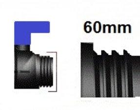 Veschlussdeckel mit Grobgewinde S60x6 (DN50)