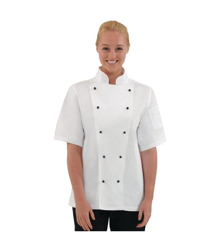 WHITES CHEFS APPAREL Whites Chicago unisex koksbuis korte mouw wit XL