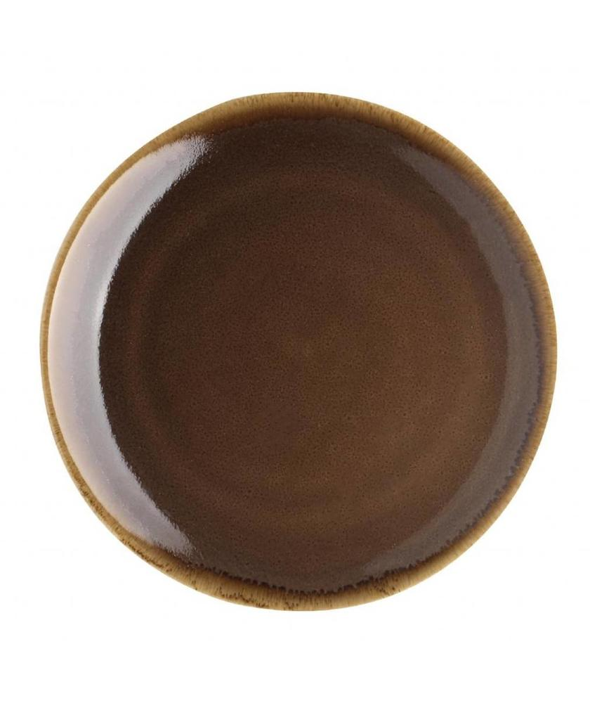 Olympia Olympia Kiln coupe borden bruin 23cm 6 stuks