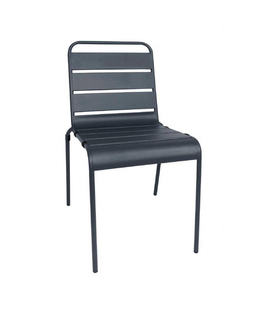 Bolero Bolero stalen stoel grijs - 4 stuks 4 stuks