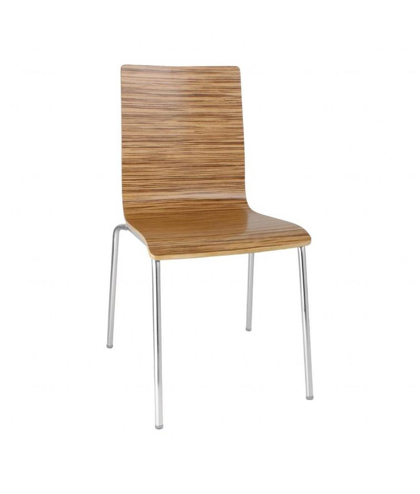 Bolero Bolero stoel met vierkante rug eiken - 4 stuks 4 stuks