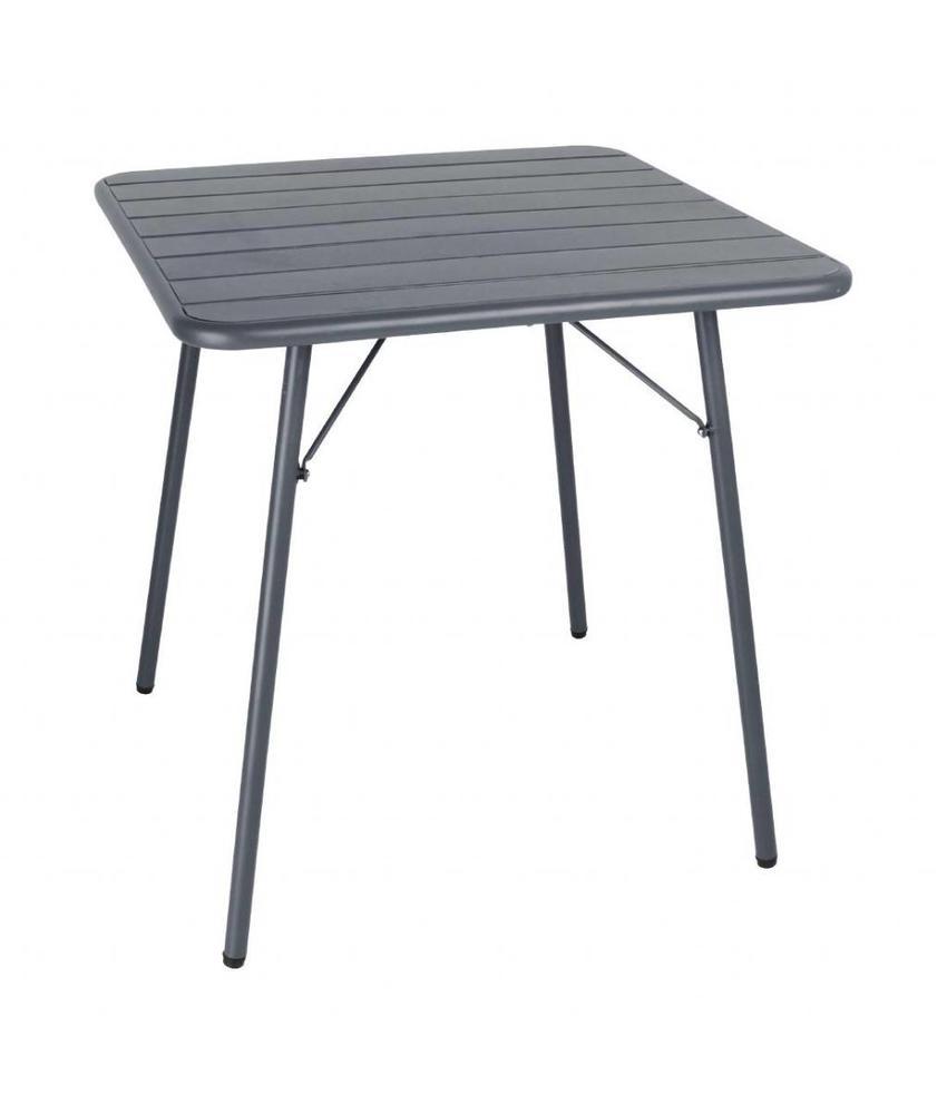 Bolero Bolero vierkante stalen tafel grijs 70cm