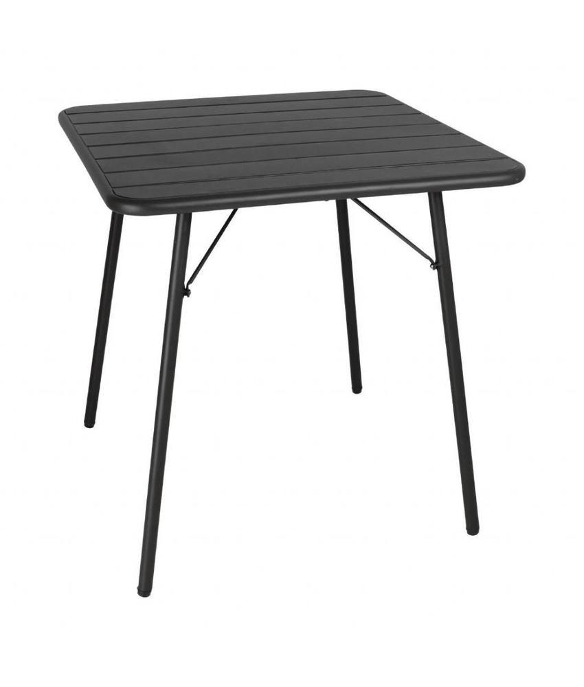 Bolero Bolero vierkante stalen tafel zwart 70cm