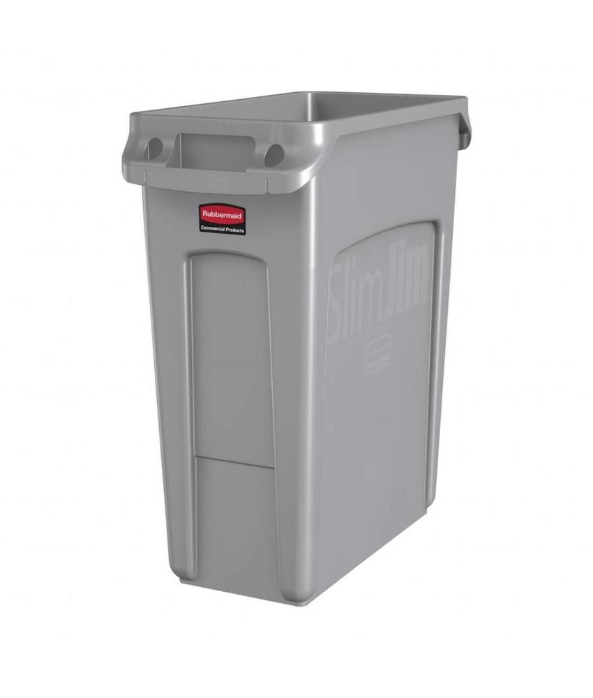 Rubbermaid Rubbermaid Slim Jim container met luchtsleuven 60ltr