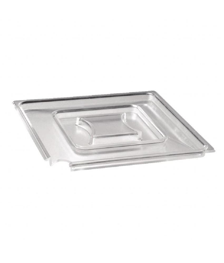 APS Vierkant transparant deksel 19x19cm