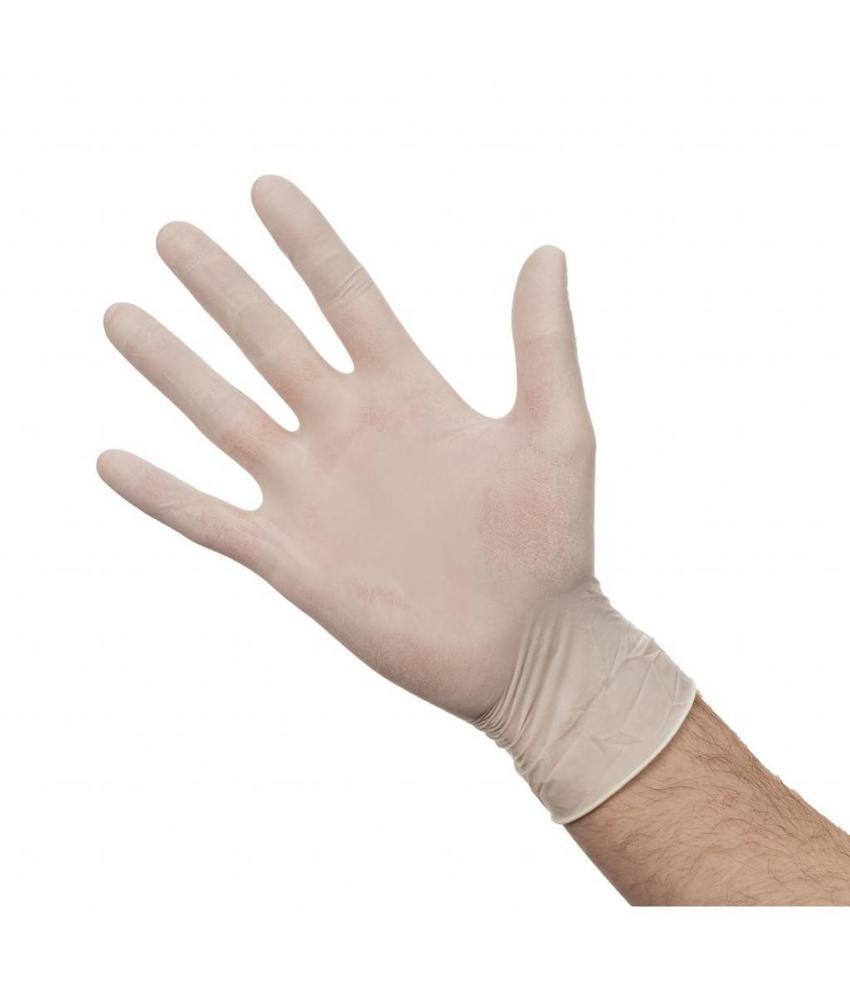 Latex handschoenen wit gepoederd XL 100 stuks