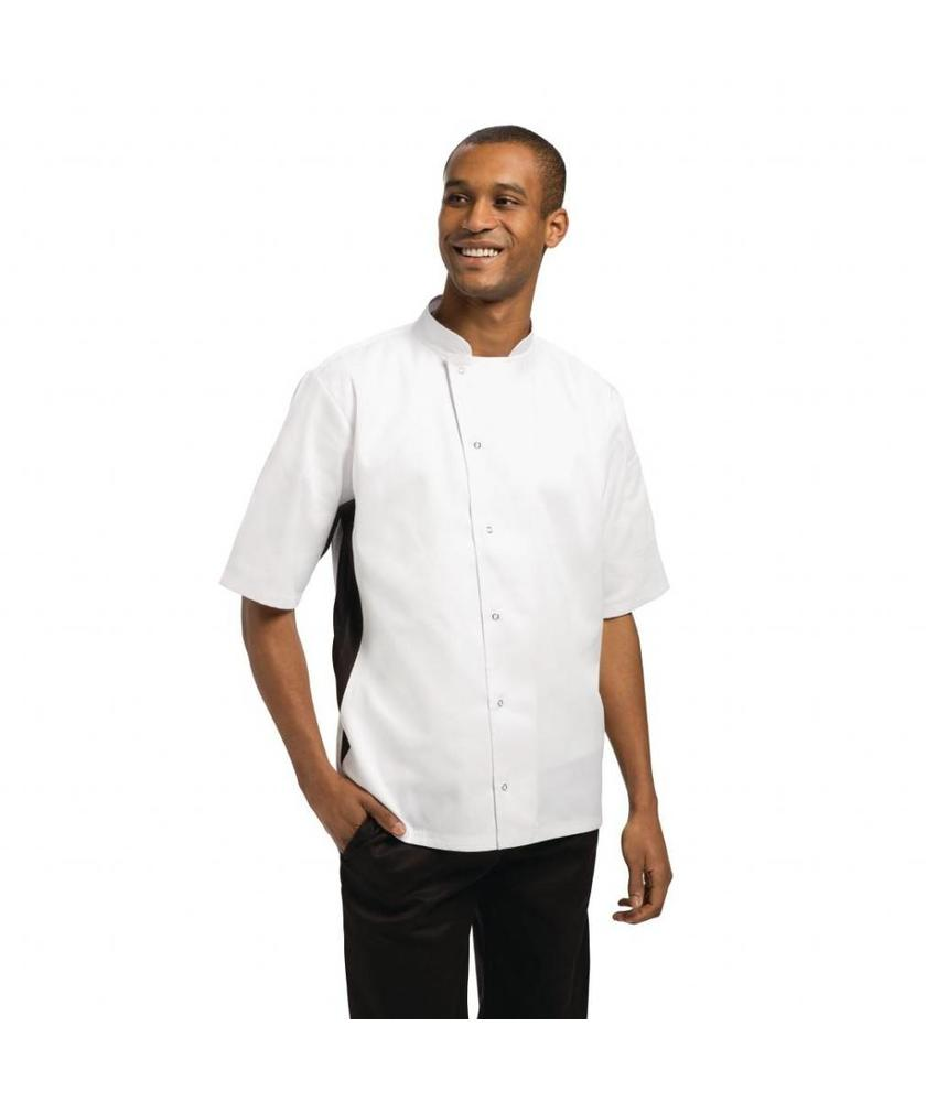 WHITES CHEFS APPAREL Whites Nevada koksbuis wit met zwart contrast S