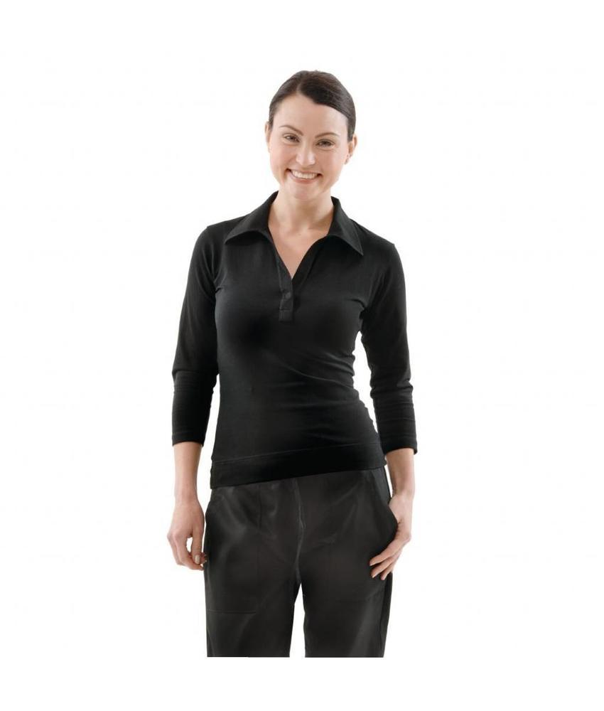Chef Works Uniform Works dames T-shirt met V-hals zwart M