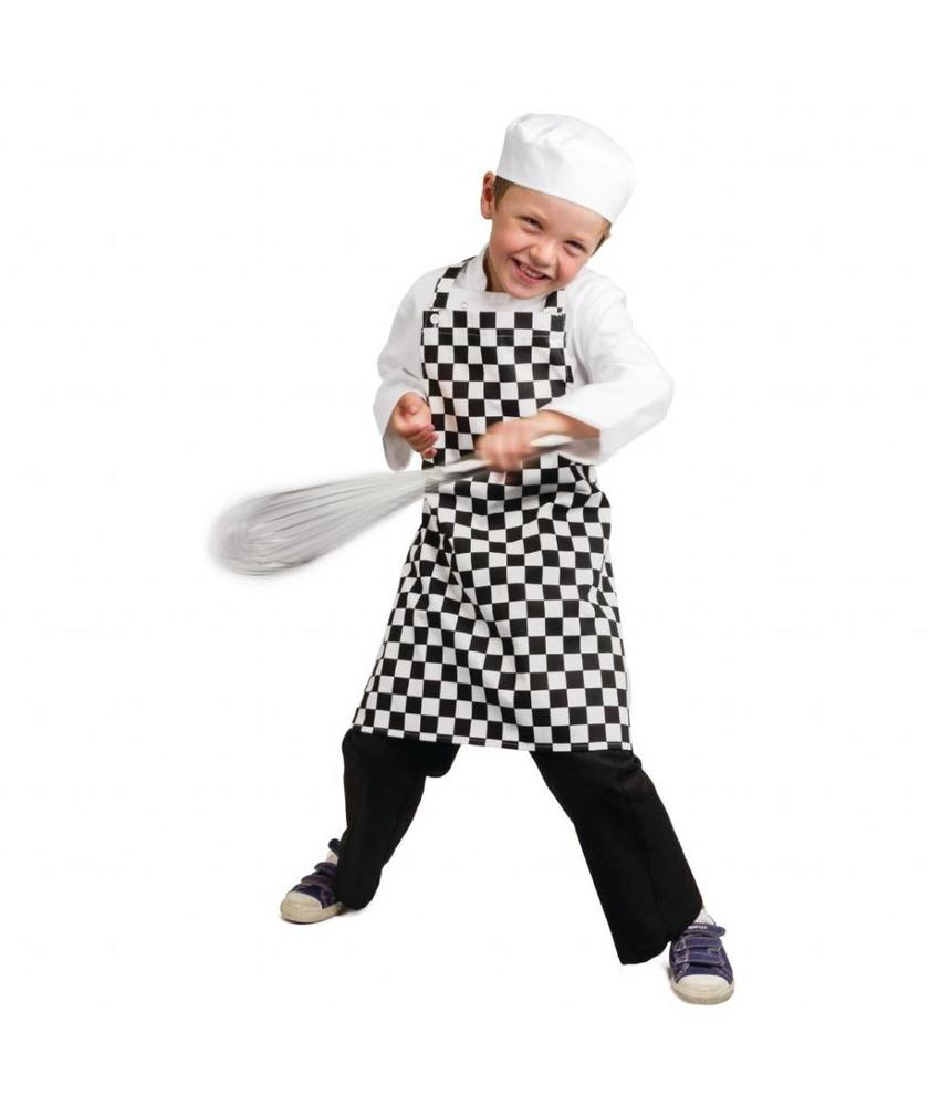 WHITES CHEFS APPAREL Whites kinderschort zwart-wit geruit