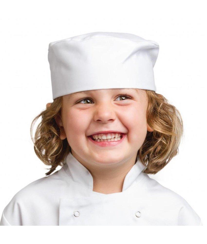WHITES CHEFS APPAREL Whites skull cap voor kinderen wit S