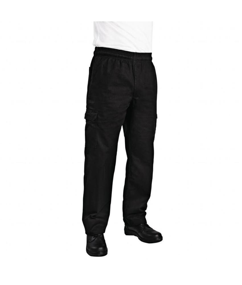Chef Works Chef Works unisex slim fit cargo broek zwart XXL
