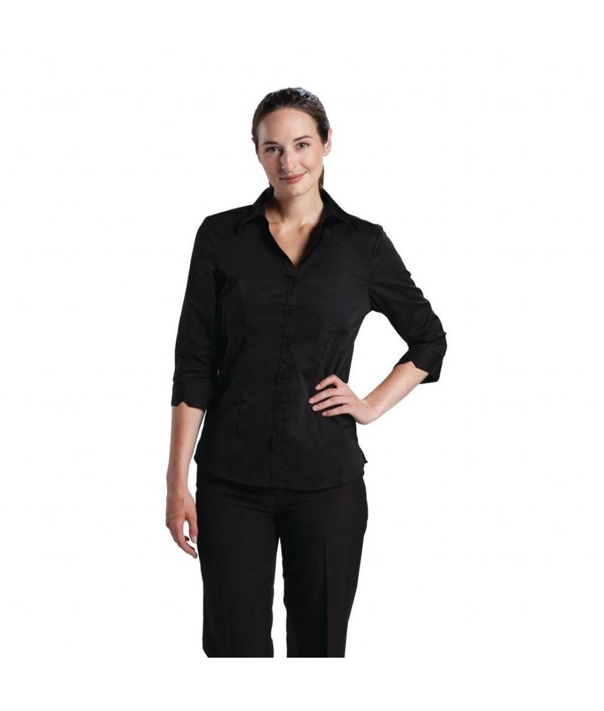 Chef Works Uniform Works dames stretch shirt zwart M