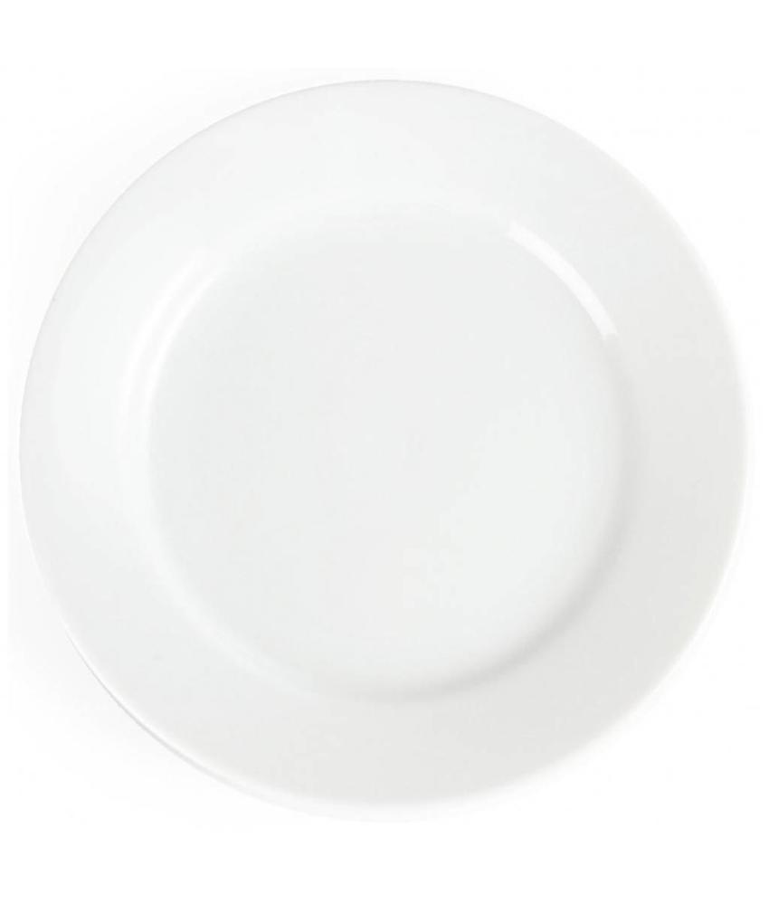 Olympia Olympia Whiteware borden met brede rand 16,5cm 12 stuks