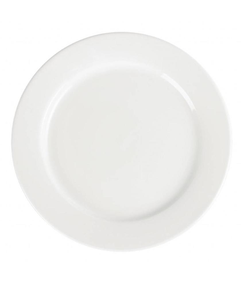 Olympia Olympia Whiteware borden met brede rand 28cm 6 stuks