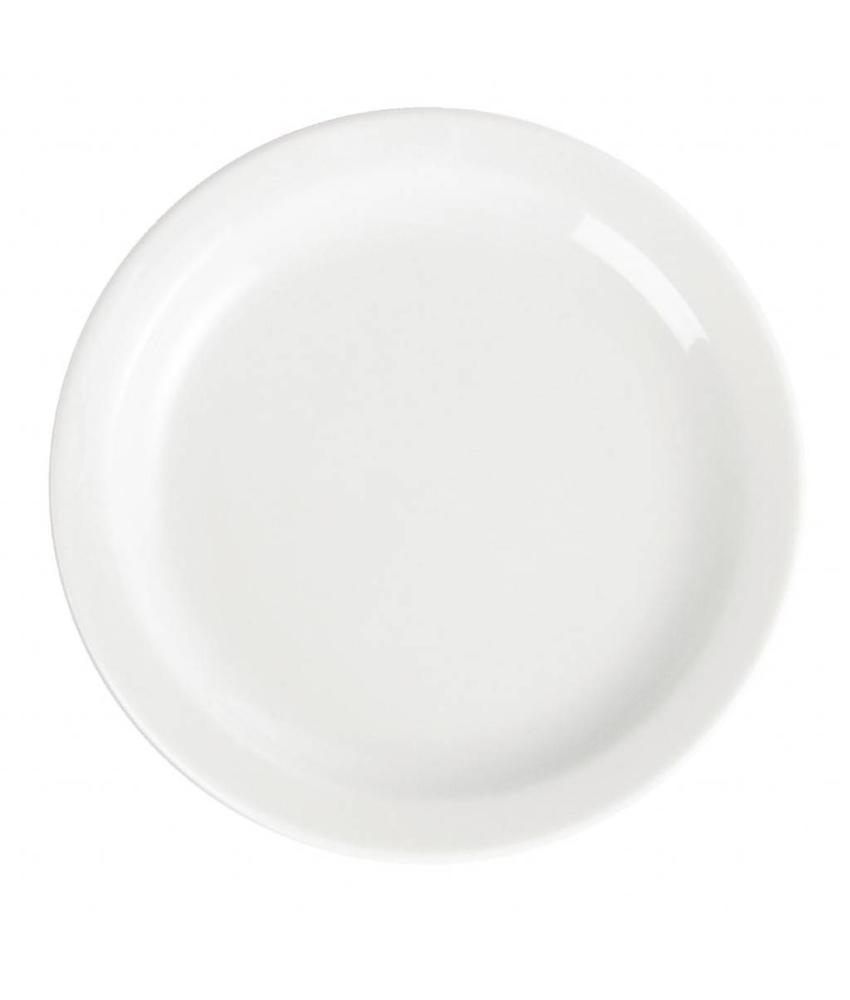 Olympia Olympia Whiteware borden met smalle rand 15cm 12 stuks