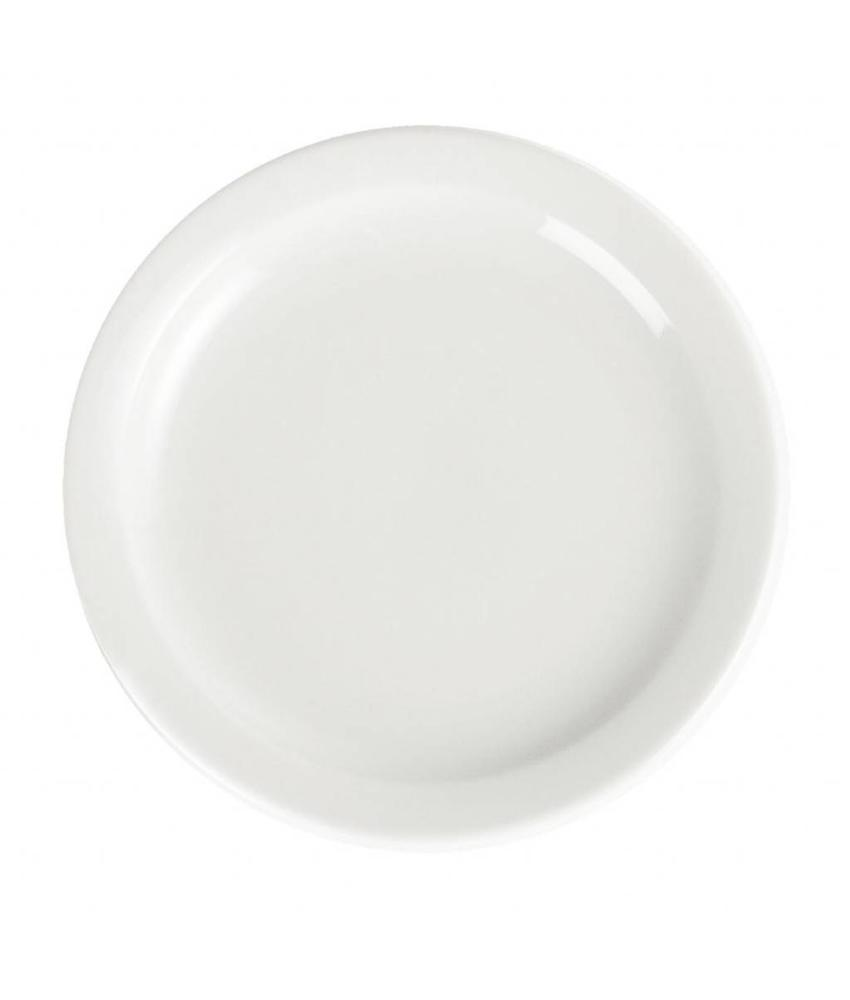 Olympia Olympia Whiteware borden met smalle rand 20,2cm 12 stuks