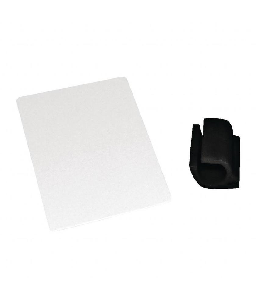 Kristallon Kristallon kaartclips zwart 10 stuks