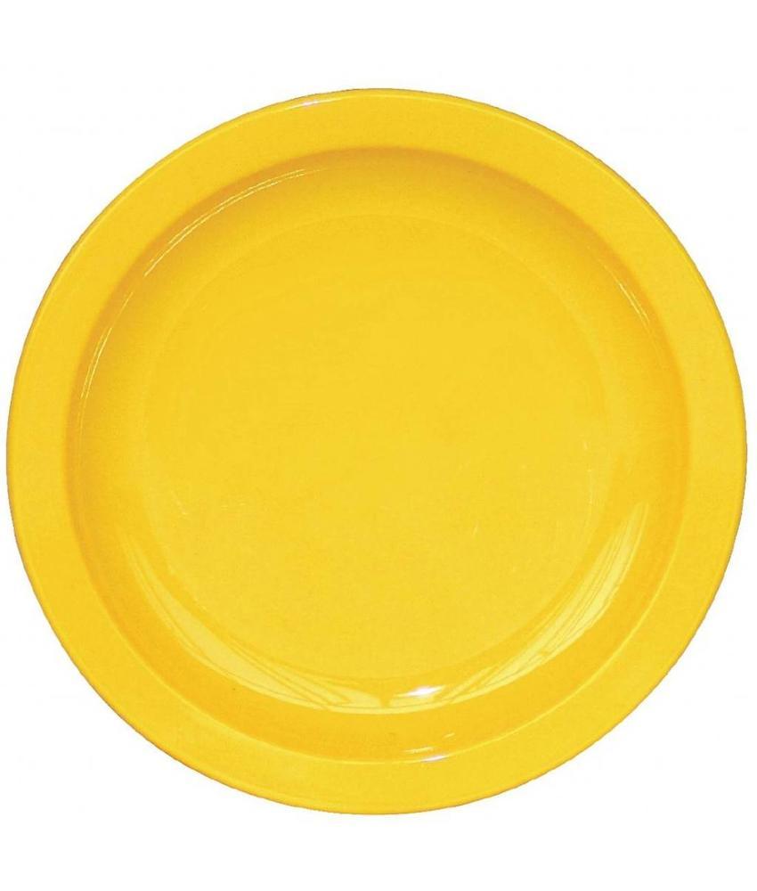 Kristallon Kristallon bord 17cm geel 12 stuks