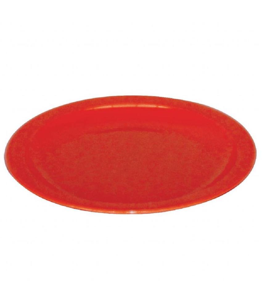 Dalebrook Kristallon bord 17cm rood 12 stuks