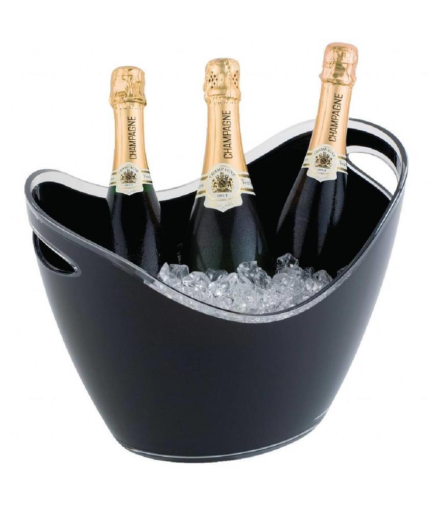 APS Champagne bowl zwart groot