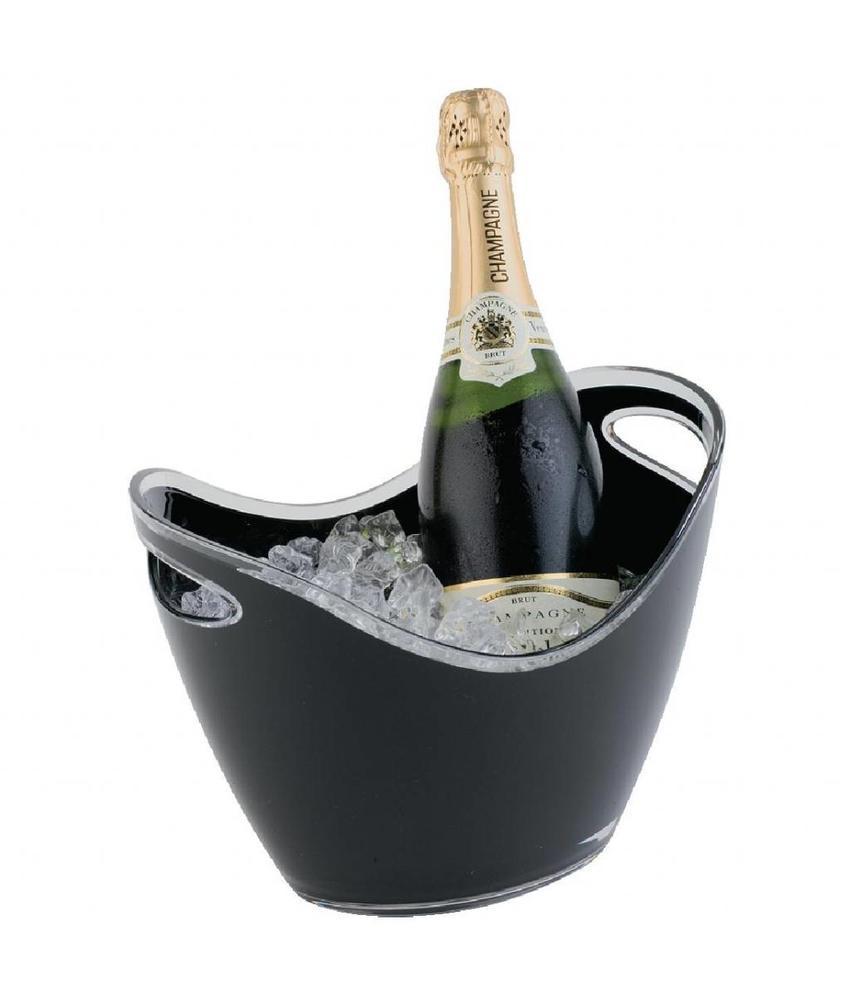 APS Champagne bowl zwart klein