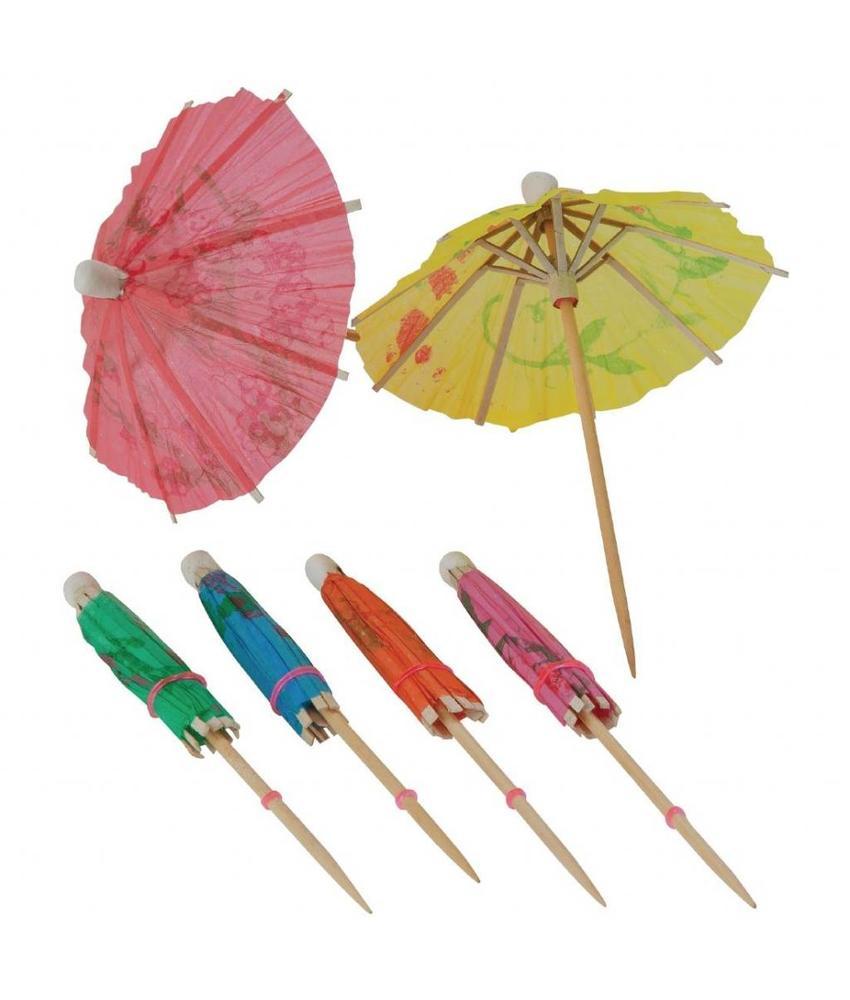 Fiesta Parasols kleuren assorti 17cm 144 stuks