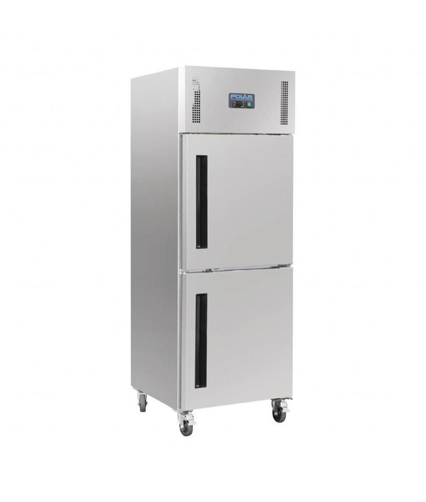 Polar Polar Gastro 1-deurs koeling met gedeelde deur 600ltr