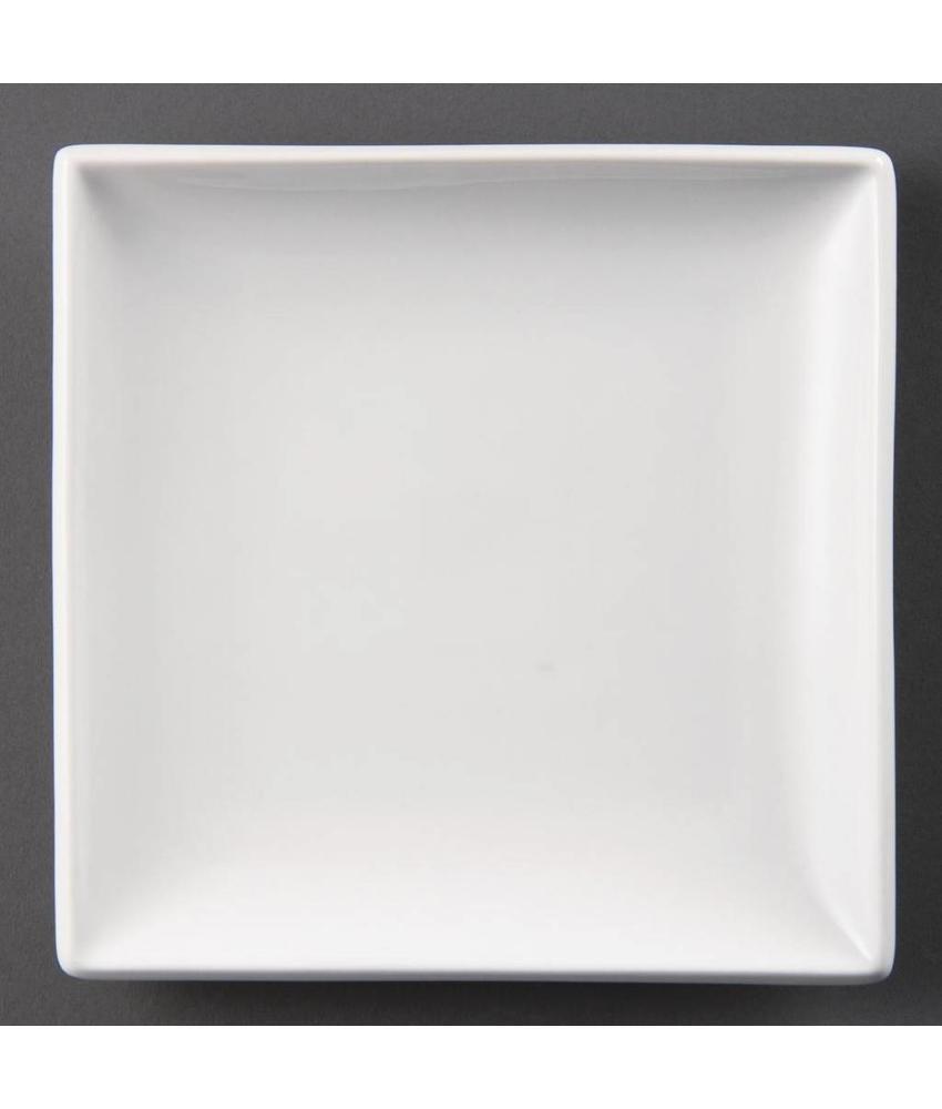 Olympia Olympia Whiteware vierkante borden 24cm 12 stuks