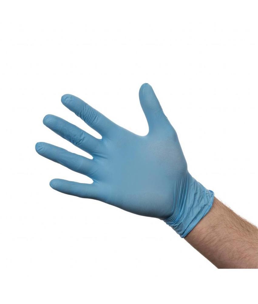 Nitril handschoenen blauw poedervrij XL 100 stuks