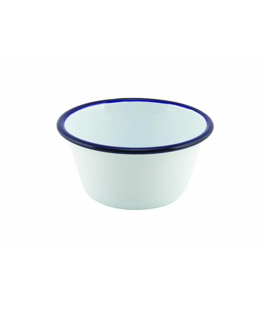 Stylepoint Emaille ovenschaal rond met blauwe rand 12 cm 12 stuks